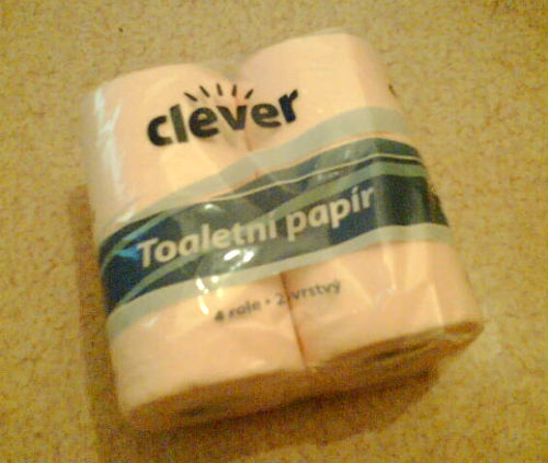 This image shows Clever toilet paper