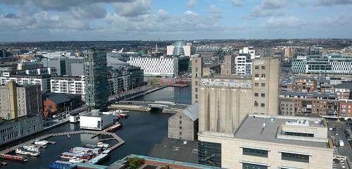 Photo of Dublin's Grand Canal Dock