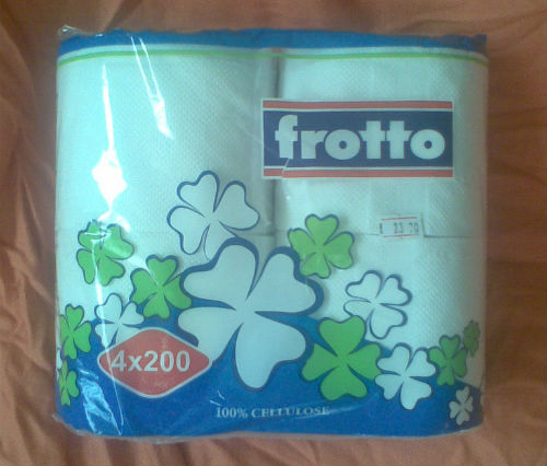 This image shows Frotto toilet paper