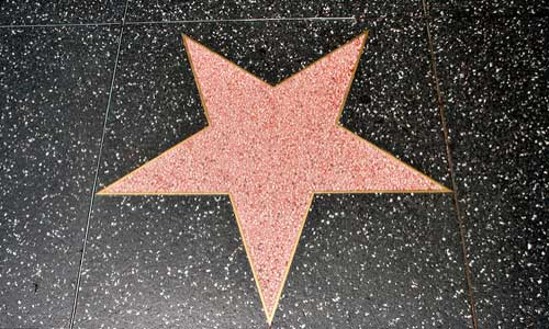 Photo of star on Hollywood's Walk of Fame