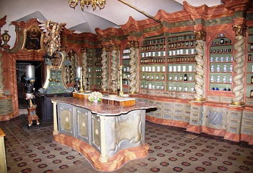 Photo of the Baroque apothecary in Klatovy, Plzen Region