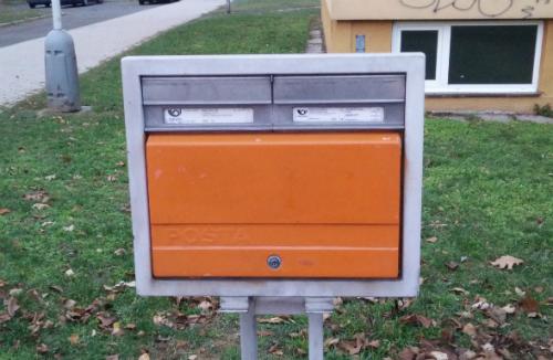 Photo of a Czech post box