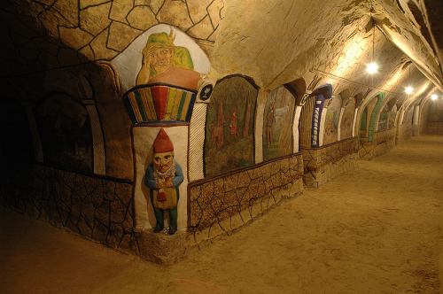 "Photo of the Malovany sklep (""Painted Cellar"") in Satov, South Moravia Region"