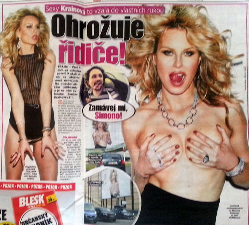 Simona Krainová goes topless (but not really)
