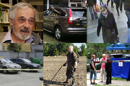 Montage of unsolved Prague murders from 2014