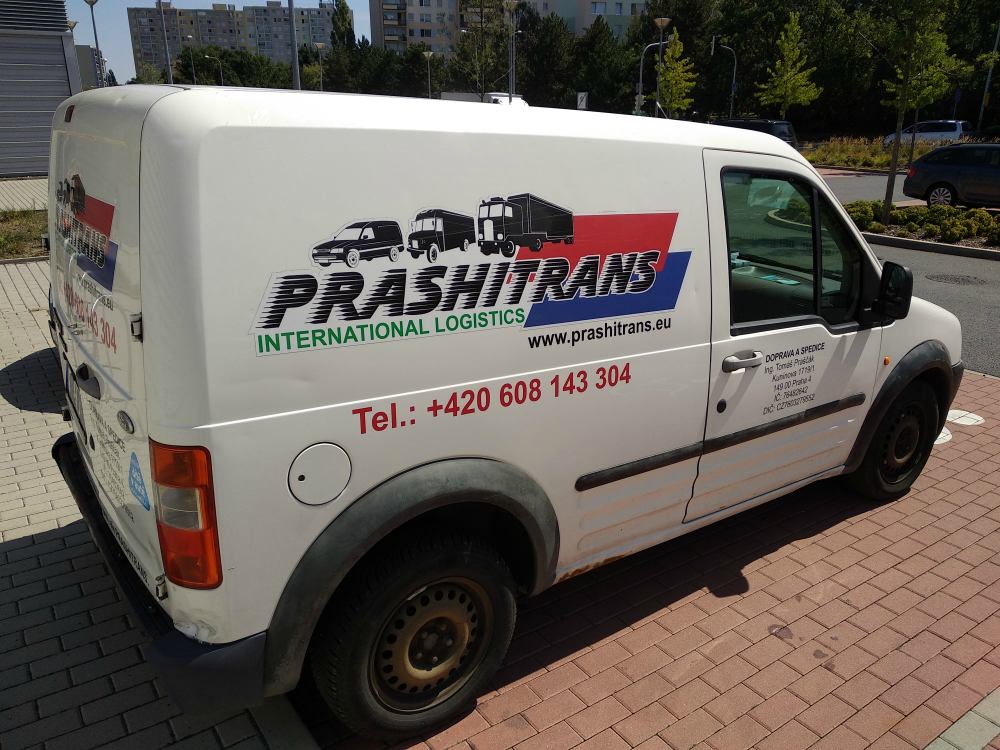 Photo of a Prashitrans van